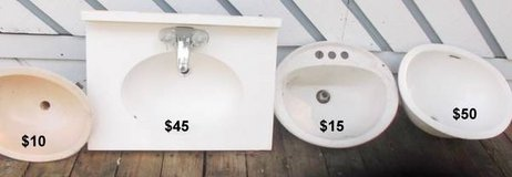 5 Bathroom Sinks, Vanity, and Ceramic Under-Mount Sink. in Conroe, Texas
