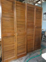 "2 sets Folding Wooden Louvered Closet Double Doors.  36"" Wide in Conroe, Texas"