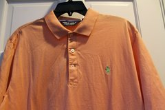 Ralph Lauren POLO Golf Tangerine Color Short Sleeve Polo, Pima Cotton, Large in Plainfield, Illinois