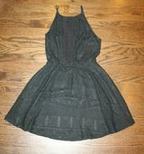 Adorable Lush Black Lace Dress w/Big Keyhole Back, Lined, Small in Plainfield, Illinois