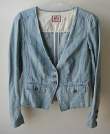 JUICY COUTURE Blue DENIM BLAZER JACKET - SZ S in Lockport, Illinois