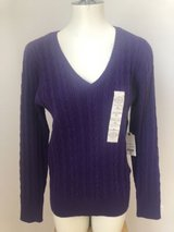 Womens sweater St. John's Bay Purple size L NWT in Chicago, Illinois