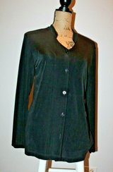 Chico's Travelers Black Button Front Knit Cardigan or Blouse, Chico's Sz 1/Med in Westmont, Illinois