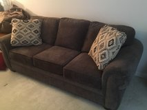 Cambridge Casual style sofa and easy chair with nail head trim by Broyhill Furniture in Fairfax, Virginia