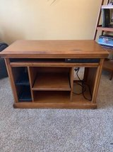 Wood computer desk in Chicago, Illinois