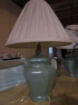 Two Light Green Lamps with shades in Palatine, Illinois