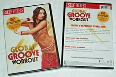 NEW Global Groove DVD 2 Workouts Belly Dance Salsa Cardio Erotic Fitness in Chicago, Illinois