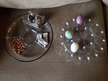 New large glass bottom appetizer/egg  3 piece tray in Camp Pendleton, California