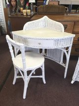 Sweet wicker vanity and chair in Chicago, Illinois
