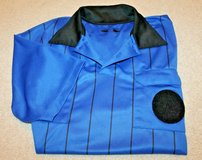 Veloce Soccer Referee Short Sleeve Jersey - Blue & Black, Medium in Oswego, Illinois
