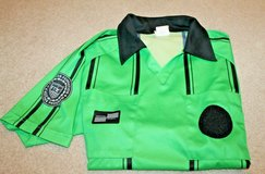 Official Sports International Soccer Referee Short Sleeve Jersey, Green/Black, Small in Westmont, Illinois