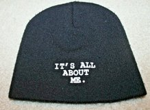 """""""IT'S ALL ABOUT ME."""" Black Beanie Hat, Children's One Size in Westmont, Illinois"""