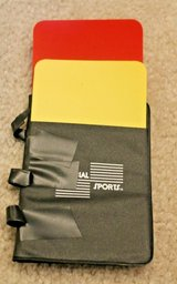 Official Sports International Soccer Referee Yellow/Red Cards Set in Bolingbrook, Illinois