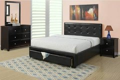 New! FULL or QUEEN BLACK Bed Frame + Storage FREE DELIVERY in Camp Pendleton, California