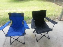Two Folding Camp Chairs in Cleveland, Texas