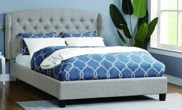 New! KING Beige Fabric Tufted Adjustable Headboard Bed FREE DELIVERY in Camp Pendleton, California
