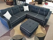 New Black Sectional + Ottoman FREE DELIVERY in Camp Pendleton, California