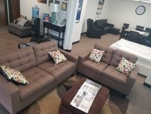 New Light Coffee Sofa and Loveseat Set FREE DELIVERY in Camp Pendleton, California