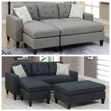 New Black or Gray Sectional + Ottoman (other colors) FREE DELIVERY in Camp Pendleton, California