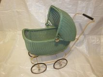 Lloyd Loom Products Wicker Doll Buggy Carriage Stroller ~ VINTAGE EXC in Plainfield, Illinois