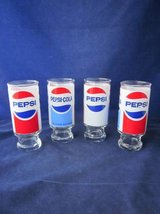 Pepsi Glasses 12 oz. Footed Tumblers Set of 4 VINTAGE in Naperville, Illinois