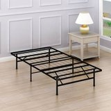 Twin Size Mattress Foundation Platform Bed Frame, Twin - New! in Bolingbrook, Illinois
