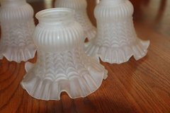Four Beautifull Curved Frosted Bell Lamp Shades - in Spring, Texas