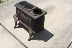 Cast Iron Stove Wood Burner With Eagle in Spring, Texas