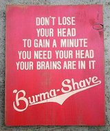 """Vintage Burma Shave Wood Sign 11"""" x 14"""" Barber Shop Collectible Decor in Aurora, Illinois"""
