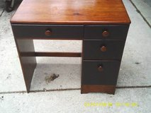 DESK LOW PROFILE ALL PINE WOOD MINT in Bolingbrook, Illinois
