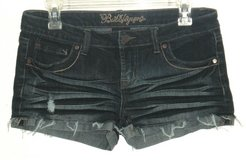 Bubblegum Distressed Cuffed Frayed Denim Jean Shortie Shorts Womens 7 8 Juniors in Plainfield, Illinois
