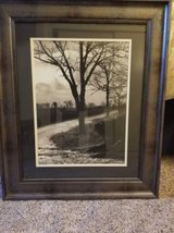 Large framed and matted print in glass in Camp Pendleton, California