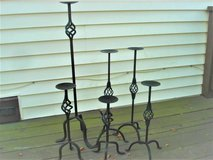 WROUGHT IRON PILLAR CANDLE HOLDERS in Aurora, Illinois