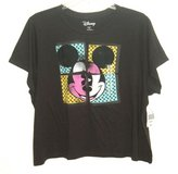 NEW Disney Mickey Mouse Faded Black Tee Top T-Shirt Womens 3X Juniors in Yorkville, Illinois