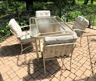 Patio Furniture Set - Table, 4 Chairs, Glider & Chaise in Glendale Heights, Illinois