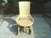 REDUCED....ANTIQUE ROCKING CHAIR CAN STILL USE in Westmont, Illinois