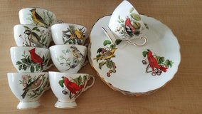 Reduced!!! Tuscan Audubon birds/summer Tanager English Bone China service for 12 in Fort Belvoir, Virginia