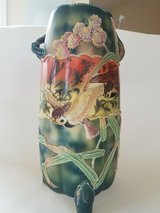 Vintage WWII Japanese vases with raised bird, flowers and leaves. in Fairfax, Virginia