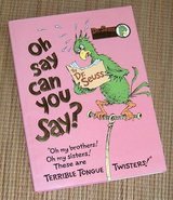 Vintage 1979 Dr Seuss Oh Say Can You Say Collectort Edition Hard Cover Book w DJ in Morris, Illinois