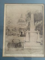 Don Swann etching of the USNA Chapel and Mexican Monument # 226 of 300 in Fairfax, Virginia