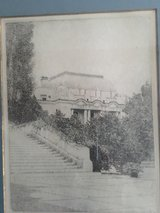 Don Swann etching of USNA Bancroft Hall and Smoke Park # 263 of 300 in Fairfax, Virginia
