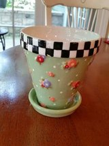 Ceramic Pot and Saucer - Mary Engelbreit in Naperville, Illinois