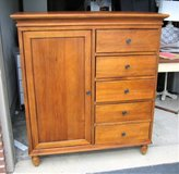 Vintage Solid Wood Dresser / Armoire - Tongue & Groove - Back Finished in Glendale Heights, Illinois