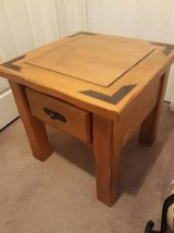 Large solid wood end table nightstand in Houston, Texas