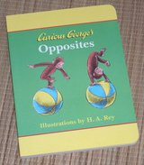 Vintage 1998 Curious Georges Opposites Hard Cover Board Book in Yorkville, Illinois