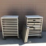 Set of 2 Win-Holt Half Size Pan Racks with Trays in Travis AFB, California