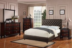 New! Espresso Tufted Queen Bed Frame (other sizes) FREE DELIVERY in Camp Pendleton, California