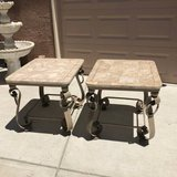 Pair of Faux Marble Top End / Side Tables in Fairfield, California