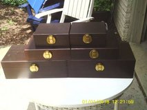 STORAGE BOXES A SET OF 6 ALL WOOD DOVE TAILED in Orland Park, Illinois