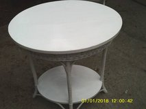 TABLE OVAL WITH WOVEN WICKER MUST SEE in Orland Park, Illinois